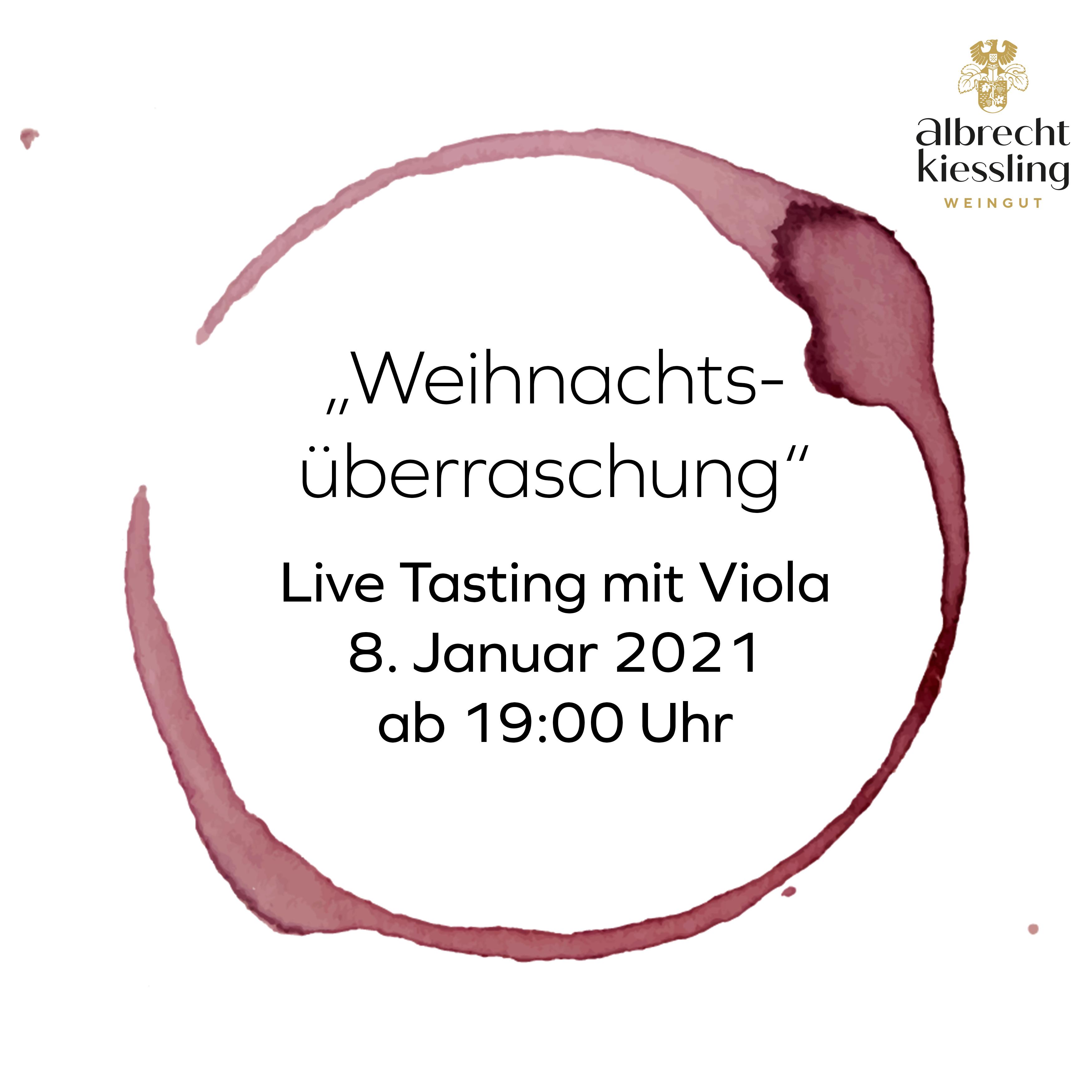 Live-Tasting mit Viola - Weihnachtsüberraschung