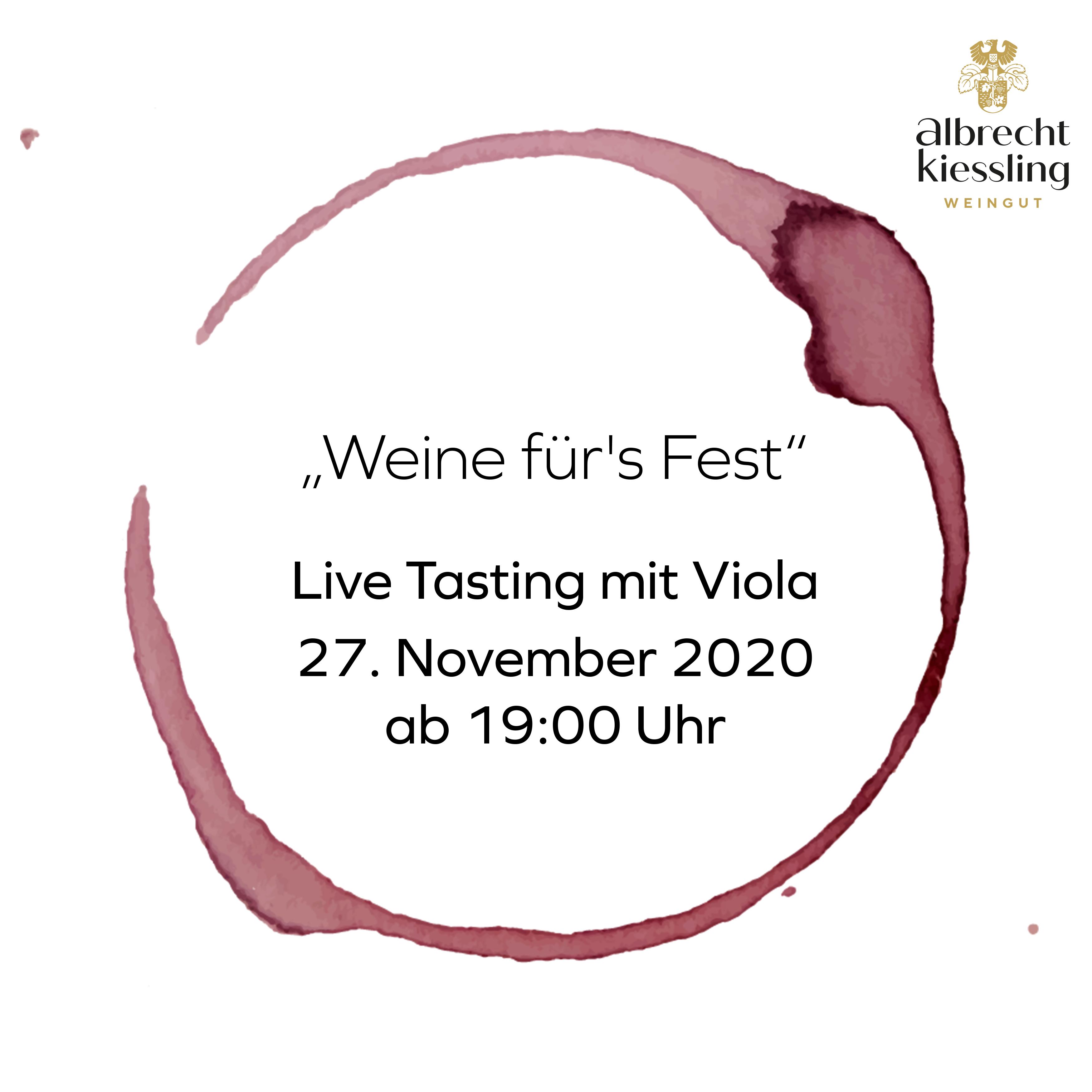 Live-Tasting mit Viola - Weine fürs Fest