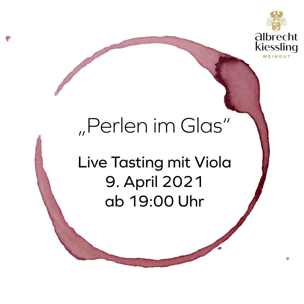 Live-Tasting mit Viola - Perlen im Glas